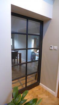 glazed pocket door