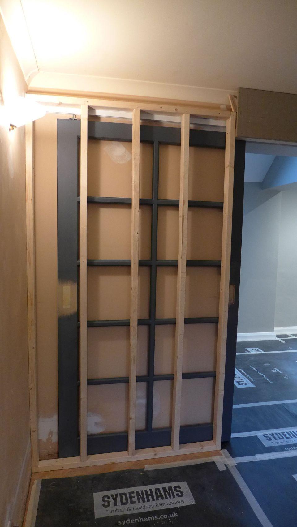 pocket door construction