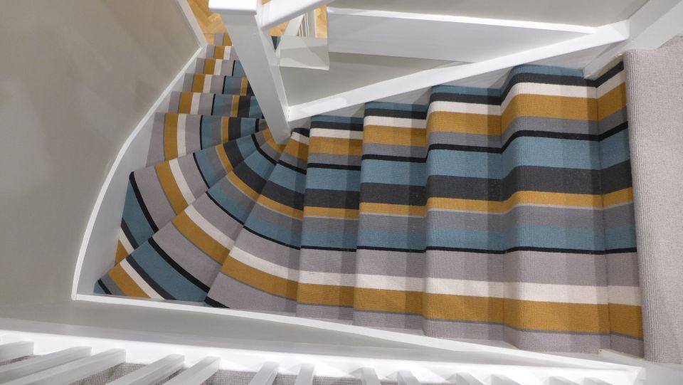 winding striped carpet