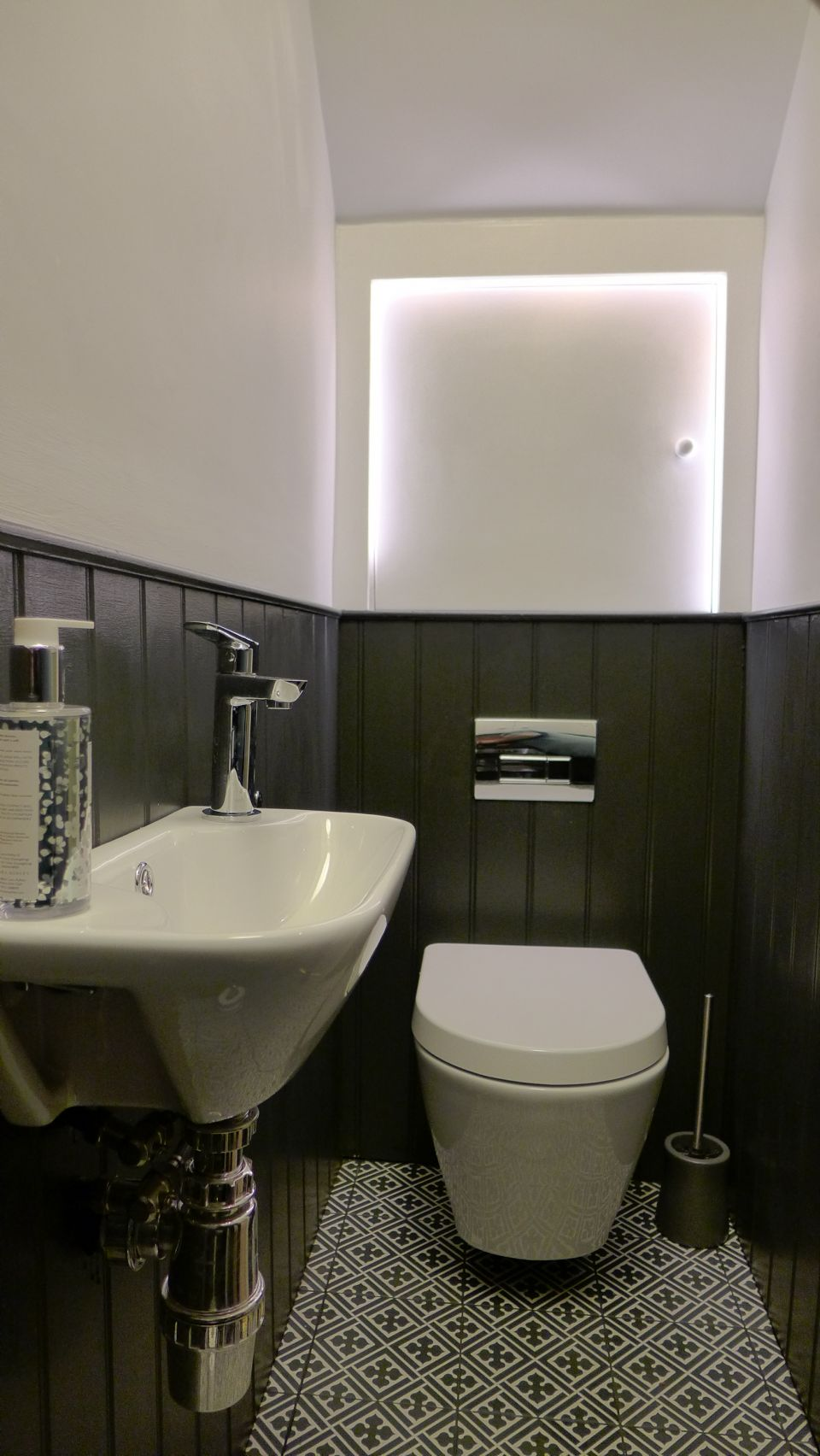 Black and White Cloakroom