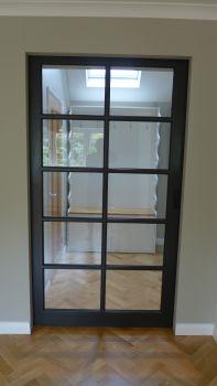 pocket door in closed position