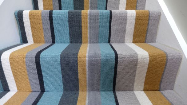 striped modern stair carpet