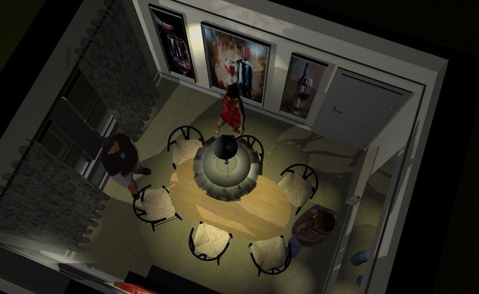 3D dining room design