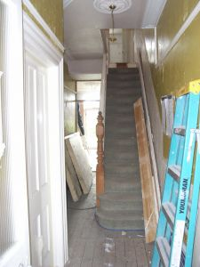 staircase before decoration