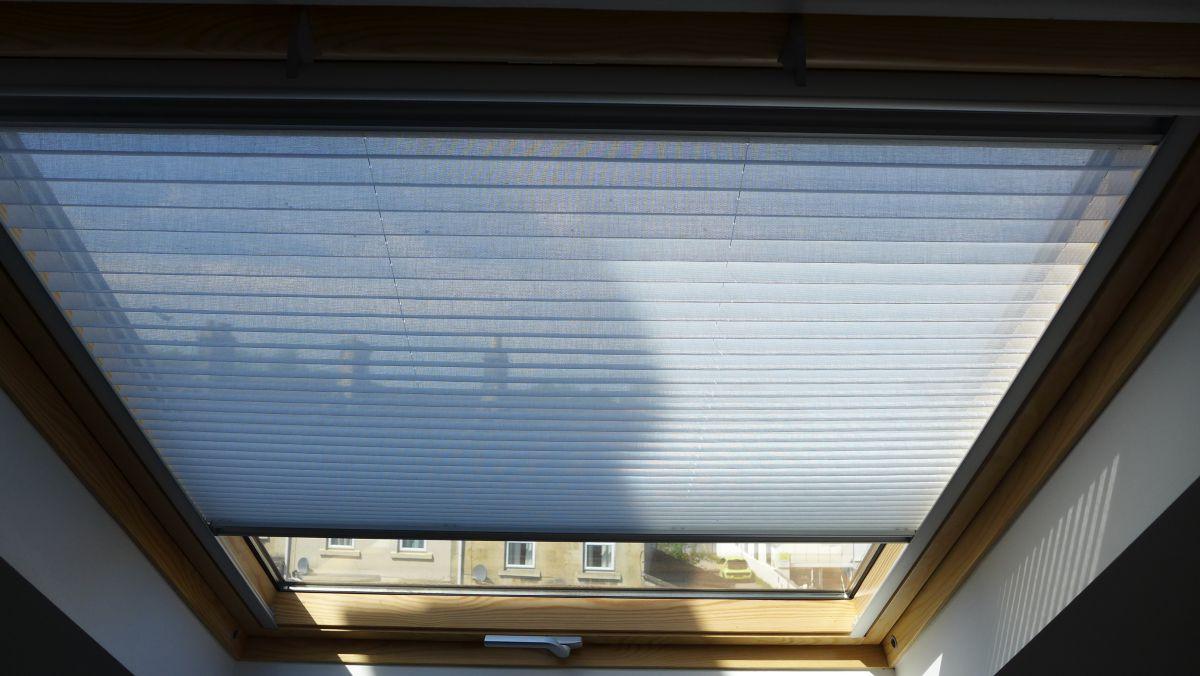 velux window with translucent blind